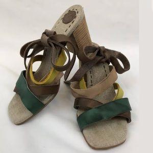 MORENATOM Anthropologie 7 Leather Strappy Sandal